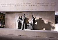 Eisenhower Memorial, Washington DC, USA. Sculptures by Sergey Eylanbekov Representing the Second Inauguration.