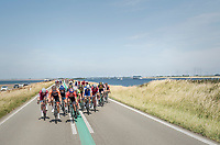 when exposed to the heavy sea winds, Team LottoNL-Jumbo (with Dylan Groenewegen up front) forces the peloton to break into echelons<br /> <br /> Ster ZLM Tour (2.1)<br /> Stage 2: Tholen > Hoogerheide (186.8km)