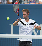 Florian Mayer (GER) loses to Andy Murray (GBR) 7-6, 6-2, 6-2 at the US Open being played at USTA Billie Jean King National Tennis Center in Flushing, NY on September 1, 2013