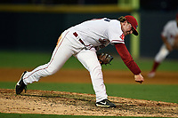 Pitcher Durbin Feltman (40) of the Greenville Drive pitches in the ninth inning of a game against the Hickory Crawdads on Monday, July 23, 2018, at Fluor Field at the West End in Greenville, South Carolina. Feltman is a Third Round pick by the Boston Red Sox in the 2018 First-Year Player Draft. (Tom Priddy/Four Seam Images)