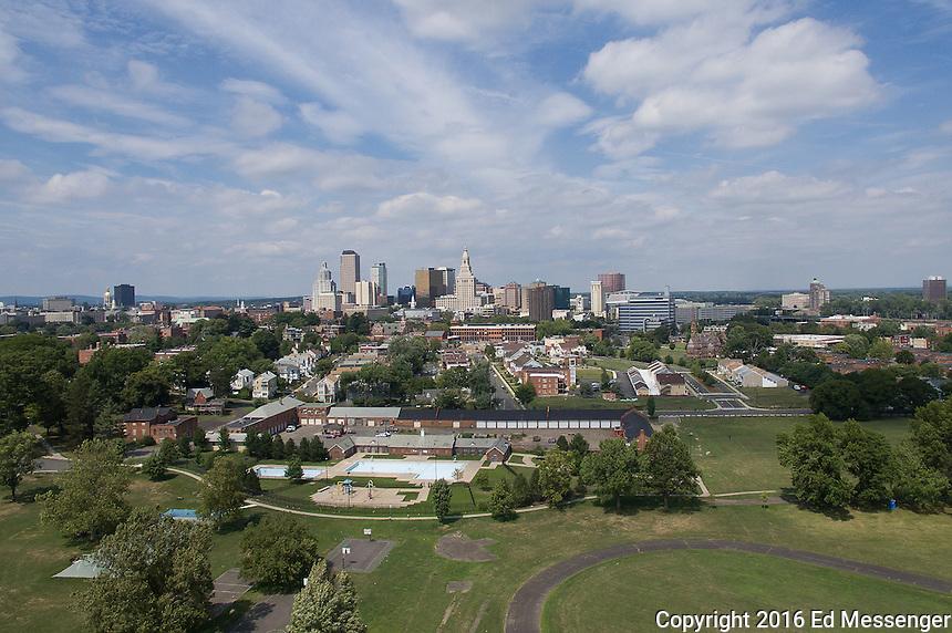 Hartford Ct Skiline from Colt Park.