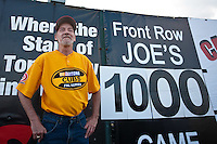 April 21, 2010: Long time Daytona Beach Cubs fan Front Row Joe marked his 1000th consecutive game he has attended at Jackie Robinson Ballpark in Daytona Beach, FL . His streak began in 1985 the second year the Chicago Cubs High-A affiliate moved to Daytona (Photo By Scott Jontes/Four Seam Images)