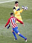 Atletico de Madrid's Fernando Torres (l) and Sevilla FC's Sergio Rico during La Liga match. March 19,2017. (ALTERPHOTOS/Acero)