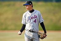 Shortstop Wilmer Flores (4) of the Kingsport Mets at Howard Johnson Field in Johnson City, TN, Thursday July 3, 2008.