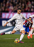 Cristiano Ronaldo of Real Madrid in action during their La Liga match between Atletico de Madrid and Real Madrid at the Vicente Calderón Stadium on 19 November 2016 in Madrid, Spain. Photo by Diego Gonzalez Souto / Power Sport Images