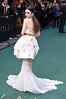 "Lily Collins<br /> arriving for the ""TOLKIEN"" premiere at the Curzon Mayfair, London<br /> <br /> ©Ash Knotek  D3499  29/04/2019"