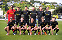 The Team Wellington starting XI before the Oceania Football Championship final (second leg) football match between Team Wellington and Auckland City FC at David Farrington Park in Wellington, New Zealand on Sunday, 7 May 2017. Photo: Dave Lintott / lintottphoto.co.nz