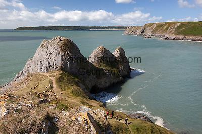 United Kingdom, Wales, Swansea, Gower Peninsula: Three Cliffs Bay | Grossbritannien, Wales, Swansea, Gower Halbinsel: Three Cliffs Bay
