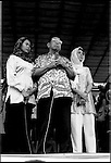 Summer '99-- Jakarta, Indonesia -- Gus Dur campaigns with his daughters because he is blind.
