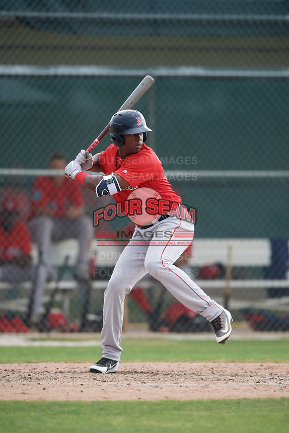Boston Red Sox Marino Campana (48) during a Minor League Spring Training game against the Baltimore Orioles on March 20, 2018 at Buck O'Neil Complex in Sarasota, Florida.  (Mike Janes/Four Seam Images)