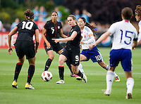 Heather O'Reilly, Carli Lloyd, Homare Sawa. The USWNT defeated Japan, 2-0,  at WakeMed Soccer Park in Cary, NC.