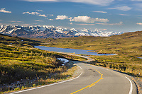 A paved section of the Denali Highway, Interior, Alaska.