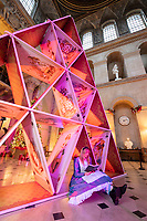 BNPS.co.uk (01202 558833)<br /> Pic: PhilYeomans/BNPS<br />  <br /> House of cards in the main hall...<br /> <br /> An Alice in Wonderland spectacular takes over historic Blenheim Palace in Oxfordshire this Christmas ...<br /> <br /> Britains only non-royal Palace has been transformed into a sound and light fantasy vision of the famous Lewis Carol Victorian novel, complete with a real life Alice to show the visitors around.<br /> <br /> Sir Winston Churchill's birthplace has been decked out with its own rabbit-hole corridor, hall of mirrors and pool of tears.<br /> <br /> Its famous long library is the scene of the Mad Hatter's Tea Party, while White Rabbit can be found in the sitting room.