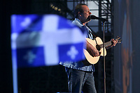 Paul Piche performs at the St-Jean show on the Plains of Abraham in Quebec City, Saturday June 23, 2012. St-Jean Baptist is Quebec National day and is traditionally celebrated on the Plains of Abraham with a concert and a huge fire.