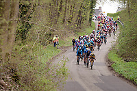 peloton descending<br /> <br /> 55th Amstel Gold Race 2021 (1.UWT)<br /> 1 day race from Valkenburg to Berg en Terblijt; raced on closed circuit (NED/217km)<br /> <br /> ©kramon