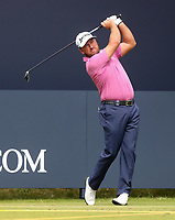 160719 | The 148th Open - Tuesday Practice<br /> <br /> Graeme McDowell of Northern Ireland on the first tee during practice for the 148th Open Championship at Royal Portrush Golf Club, County Antrim, Northern Ireland. Photo by John Dickson - DICKSONDIGITAL