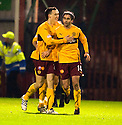 14/12/2010   Copyright  Pic : James Stewart.sct_jsp007_motherwell_v_hearts  .::  KEITH LASLEY IS CONGRATULATED AFTER HE SCORES FOR MOTHERWELL ::.James Stewart Photography 19 Carronlea Drive, Falkirk. FK2 8DN      Vat Reg No. 607 6932 25.Telephone      : +44 (0)1324 570291 .Mobile              : +44 (0)7721 416997.E-mail  :  jim@jspa.co.uk.If you require further information then contact Jim Stewart on any of the numbers above.........