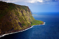 The coastline at Hawaii, The Big Island.