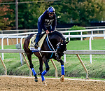 October 1, 2020: Jesus' Team exercises as horses prepare for the Preakness Stakes Week races at Pimlico Race Course in Baltimore, Maryland. Scott Serio/Eclipse Sportswire/CSM