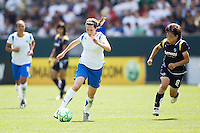 Boston Breakers Kelly Schmedes moves with the ball as LA Sol's Aya Miyama gives chase. The Boston Breakers and LA Sol played to a 0-0 draw at Home Depot Center stadium in Carson, California on Sunday May 10, 2009.   .