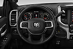 Car pictures of steering wheel view of a 2019 Ram 3500 Big Horn 4 Door Pick Up