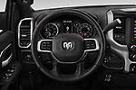 Car pictures of steering wheel view of a 2019 Ram 3500 Big Horn 4 Door Pick Up
