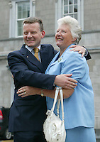14/06/2007.(L to R).arriving for the first day of the 30th Dail at Leinster House,Dublin..Photo: Gareth Chaney Collins.