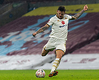 9th January 2021; Turf Moor, Burnley, Lanchashire, England; English FA Cup Football, Burnley versus Milton Keynes Dons; Ben Gladwin of MK Dons strikes and hits the post in extra time