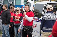 """Ca. 1000 Nazis aus ganz Deutschland marschierten am Sonntag den 1. Mai 2016 im Saeschsichen Plauen auf. Die Naziorganisation 3.Weg hatte den Marsch angemeldet. Etliche Nazis waren dabei vermummt und zeigten auch den Hitlergruss, die Polizei schritt jedoch nicht ein.<br /> Nach der Haelfte der Marschroute beendeten die Nazis ihre Demonstration, da die Polizei die Marschroute verkuerzen wollte. Sie forderten die Polizei auf den Weg freizugeben. Danach griffen Aufmarschteilnehmer die Polizei an, die daraufhin Wasserwerfer, Pfefferspray, Traenengas und Schlagstoecke einsetzte. Mehrere Gruppen Nazis zogen danach durch Plauen und jagten Menschen.<br /> Nach einer Stunde bekamen die Nazis einen erneuten Aufmarsch von der Polizei genehmigt und zogen zurueck zum Bahnhof.<br /> Im Bild: Tony Gentsch. Gentsch hat massgeblich die verbotene Naziorganisation """"Freies Netz Sued"""", FNS, geleitet und war Aktivis im verbotenen """"Kampfbund Deutscher Sozialisten"""", KDS. Er ist mit am Naziversandhandel """"Final Resistance"""" beteiligt.<br /> 1.5.2016, Plauen<br /> Copyright: Christian-Ditsch.de<br /> [Inhaltsveraendernde Manipulation des Fotos nur nach ausdruecklicher Genehmigung des Fotografen. Vereinbarungen ueber Abtretung von Persoenlichkeitsrechten/Model Release der abgebildeten Person/Personen liegen nicht vor. NO MODEL RELEASE! Nur fuer Redaktionelle Zwecke. Don't publish without copyright Christian-Ditsch.de, Veroeffentlichung nur mit Fotografennennung, sowie gegen Honorar, MwSt. und Beleg. Konto: I N G - D i B a, IBAN DE58500105175400192269, BIC INGDDEFFXXX, Kontakt: post@christian-ditsch.de<br /> Bei der Bearbeitung der Dateiinformationen darf die Urheberkennzeichnung in den EXIF- und  IPTC-Daten nicht entfernt werden, diese sind in digitalen Medien nach §95c UrhG rechtlich geschuetzt. Der Urhebervermerk wird gemaess §13 UrhG verlangt.]"""
