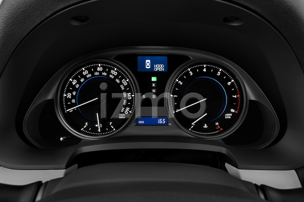 Instrument panel close up detail view of a 2009 Lexus IS 350