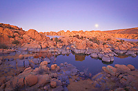 Watson Lake Reflection - Arizona - Full Moon - Granite Dells, Prescott