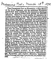BNPS.co.uk (01202 558833)<br /> Pic: Pen&SwordBooks/BNPS<br /> <br /> Pictured: A newspaper report which includes G Barker in the Royal Engineers team. <br /> <br /> A historian believes he has uncovered a previously unknown participant in the first ever FA Cup final.<br /> <br /> James Bancroft is convinced Lieutenant George Barker represented the Royal Engineers in the 1872 final against the Wanderers.<br /> <br /> However, he is not listed in any official records or football books written about the showpiece occasion.<br /> <br /> Mr Bancroft said he has found newspaper reports with Lt Barker on the team-sheet and he appears in full kit in the Royal Engineers post-match team photo.<br /> <br /> He outlines his theory in his new book, The Early Years of the FA Cup, which charts the rise and fall of the Royal Engineers, the only military team to win the trophy.