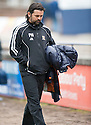 Alloa Manager Paul Hartley at the end of the game.