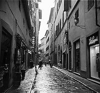 Italian street after rain<br />