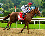 SEPT 05, 2021:Tarabi post parade in the Gr.1 Spinaway Stakes, for 2-year old fillies, going 7 furlongs, at Saratoga Racecourse, Saratoga Springs, New York. Sue Kawczynski/Eclipse Sportswire/CSM