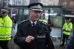 © Joel Goodman - 07973 332324 . 19/12/2014 .  Manchester , UK . Chief Superintendent JOHN O'HARE in charge of Manchester's Mad Friday policing operation . Police say a hundred police will be patrolling in Manchester City Centre this evening (Friday 19th December) after previous reports have said as few as four have been available some nights . Photo credit : Joel Goodman/LNP