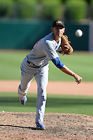 Mesa Solar Sox pitcher Armando Rivero (36), of the Chicago Cubs organization, during an Arizona Fall League game against the Glendale Desert Dogs on October 8, 2013 at Camelback Ranch Stadium in Glendale, Arizona.  The game ended in an 8-8 tie after 11 innings.  (Mike Janes/Four Seam Images)