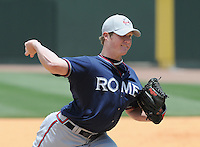May 18, 2009: RHP Craig Kimbrell of the Rome Braves during a game against the Greenville Drive at Fluor Field at the West End in Greenville, S.C. Photo by: Tom Priddy/Four Seam Images