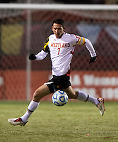 Dan Metzger (7) of Maryland controls the ball during the second round of the NCAA tournament at Ludwig Field in College Park, MD.  Maryland defeated Providence, 3-1.