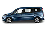 Car Driver side profile view of a 2020 Ford Grand-Tourneo-Connect Titanium 5 Door Minivan Side View