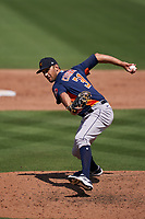 Houston Astros pitcher Steve Cishek (31) during a Major League Spring Training game against the Miami Marlins on March 21, 2021 at Roger Dean Stadium in Jupiter, Florida.  (Mike Janes/Four Seam Images)