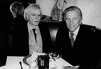 Andy Warhol Kirk Douglas 1980s Photo by Adam Scull-PHOTOlink.net
