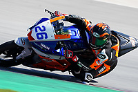 29th March 2021; Barcelona, Spain;  Superbikes, WorldSSP300 , day 1 testing at Circuit Barcelona-Catalunya; Mirko Gennai riding Yamaha YZF-R3 from BRCorse