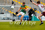 Dara Moynihan, Kerry in action against Cathal Sweeney, Galway during the Allianz Football League Division 1 South Round 1 match between Kerry and Galway at Austin Stack Park in Tralee.
