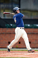 Mobile BayBears third baseman Garrett Weber #4 during a game against the Pensacola Blue Wahoos on April 14, 2013 at Hank Aaron Stadium in Mobile, Alabama.  Mobile defeated Pensacola 5-2.  (Mike Janes/Four Seam Images)