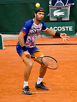 Paris, France, 3 june, 2019, Tennis, French Open, Roland Garros, Mens doubles: Jean Julien Rojer (NED)<br /> Photo: Henk Koster/tennisimages.com