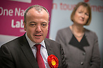 © Joel Goodman - 07973 332324 . 27/01/2014 . Manchester , UK . The Deputy Leader of the Labour Party , Harriet Harman looks on as Mike Kane speaks at the launch of Mike Kane's campaign for the Wythenshawe East and Sale by-election at the Woodhouse Park Lifestyle Centre in Wythenshawe , today (27th January 2014) . Photo credit : Joel Goodman