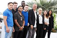 LAURENT CANTET, MARINA FOIS, MATTHIEU LUCCI - Cannes 2017 - L'Atelier photocall during Cannes Film Festival in Cannes, France, 22/05/2017. # 70EME FESTIVAL DE CANNES - PHOTOCALL 'L'ATELIER'
