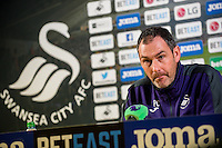 Thursday  12 January 2017<br /> Pictured: Manager of Swansea City Paul Clement<br /> Re: Manager of Swansea City Paul Clement's press conference ahead of this weekends home premier league game against Arsenal.