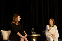 Susan Cain and Susan David at the 2Coaching in Leadership and Healthcare Conference by the Institute of Coaching and Harvard Medical School at the Renaissance Hotel Boston MA October 13 and 14, 2017